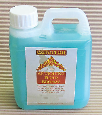 Curator Bronze Antiquing Patination Fluid Solution 1 Ltr