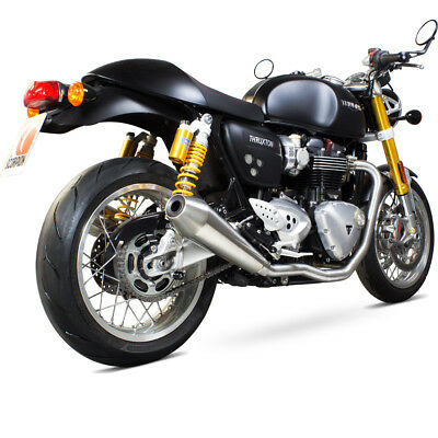 triumph thruxton 1200 2016 2017 scorpion motorbike exhaust de cat header pipes