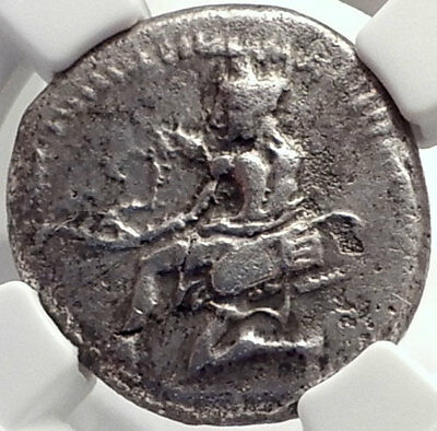 CILICIA: SOLOI 440 BC Amazon Grape Ancient Silver Greek Coin Certified NGC ChVF