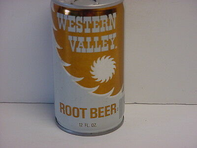 Vintage Western Valley Root Beer Crimped Steel Pull Tab Bottom Opened Soda Can