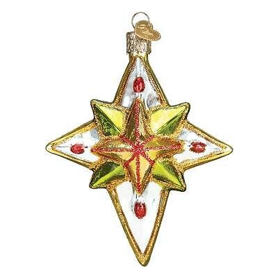Luminous Star Old World Christmas Green Gold Silver Celestial Ornament Nwt 22036