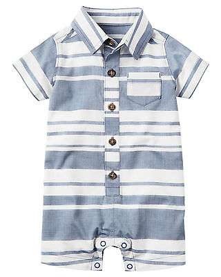 Carters 3 6 9 12 18 24 Months Polo Romper Baby Boy Clothing