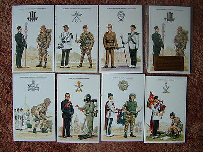 THE BRITISH ARMY SERIES - THE BRIGADE OF GURKHAS. 7 card set.  Mint Condition.