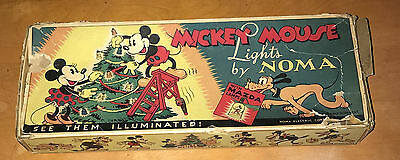 Walt Disney  Mickey Mouse  Noma Lights Box Only  1930's