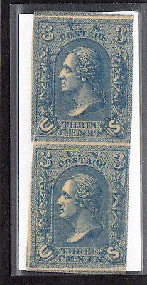 $US Sc#79E8 blue Lowenberg Essay pair, Cv. $20