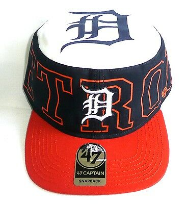 a3136aafb54d1d DETROIT TIGERS '47 Brand Captain Pillbox Snapback Hat/Cap Adjustable MLB > NEW<