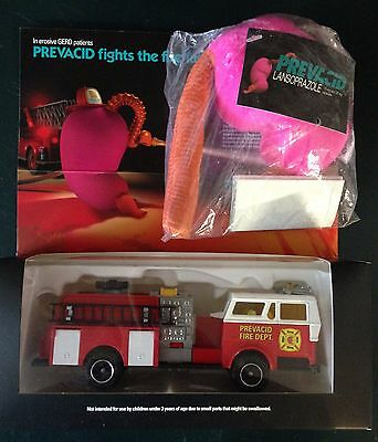 Vintage PRECACID FIRE TRUCK & STOMACH Drug Company Advertising Samples   NEW!!