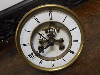 french visible escapement striking mantel clock movement