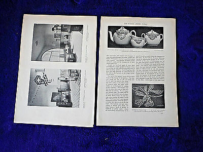 1904 JOSEF HOFFMANN Vienna Werkstatte antique article w photos STUDIO artists