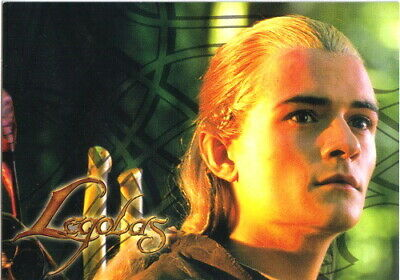 The Lord of the Rings Legolas Face Postcard, 2004 NEW UNUSED