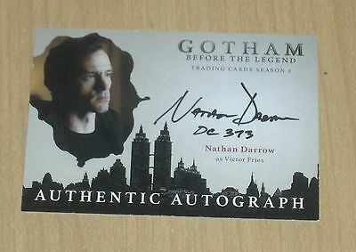 2017 Cryptozoic Gotham season 2 autograph card Nathan Darrow VICTOR FRIES DC373