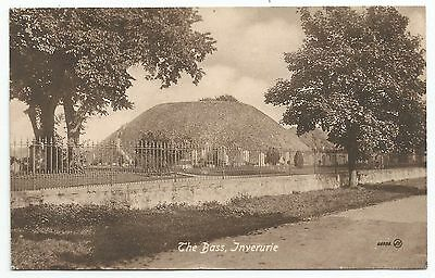 POSTCARD-INVERURIE-PTD. The Bass and Cemetery.