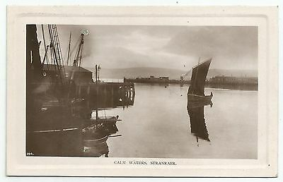 POSTCARD-SCOTLAND-STRANRAER-RP. Calm Waters in The Harbour.