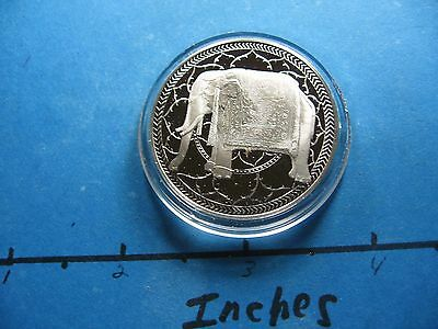 Indian Elephant India Symbol Of Good Luck Throughout India Silver Coin Sharp