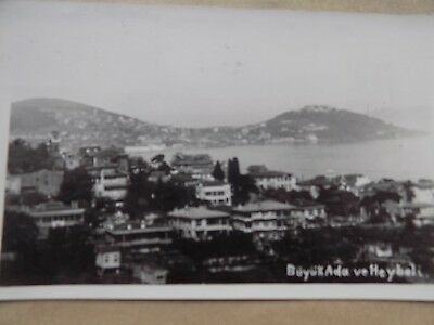 Vintage Old Posted Postcard 1954 Turkey Buyuk Ada ve Heybeli Coast Houses