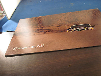 1982 Mercedes Benz full line brochure  12 pages in color