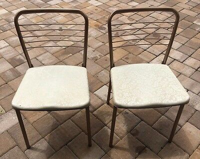 Pair of Vintage 1950's Hamilton Cosco Mid Century Modern Metal Folding Chairs
