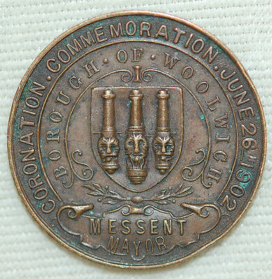 Edward VII Commemorative Coin - Borough of Woolwich - Messent Mayor
