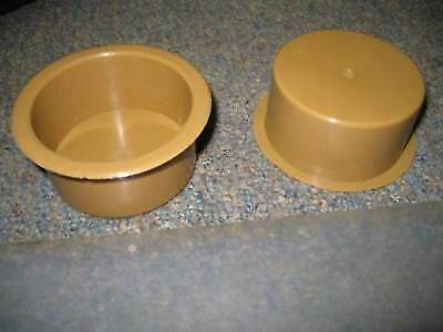 Brown Carmel Universal Plastic Cup Holders! Center Console! VAN/RV/Car/Truck