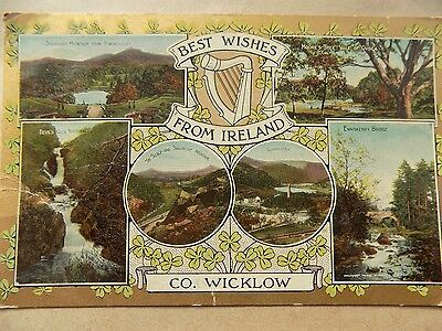 Old Posted Postcard Vintage County Wicklow Ireland 1920s?  a