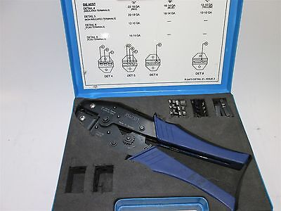 Hand Ratchet Crimp Tool 10-22 AWG Insulated/Non-Insulated Electrical Terminals