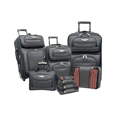 Traveler's Choice Amsterdam 8-piece Luggage Set 3 Colors