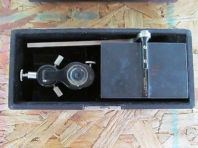 Antique Bausch & Lomb Microscope Tool Micrology Unknown Mirror Lens Brass NR!