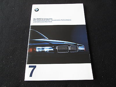 1998 BMW 7 Series GERMAN Catalog E38 740i 740iL 750iL Sales Brochure 728tds 735i