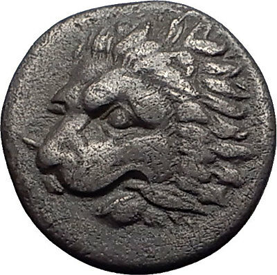 THESSALY Oitaioi 360BC Ex BCD  Authentic Ancient Silver Greek Coin LION HERCULES
