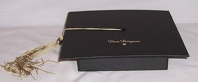 New 2 Dom Perignon Black Cardboard Graduation Cap Box Topper & Gold Tassel