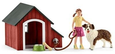 Dog Kennel & items  42376 sweet tough strong Schleich anywheres a playground