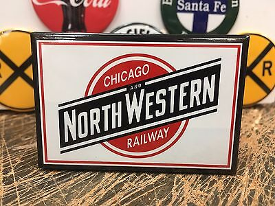 CHICAGO AND NORTHWESTERN railway RAILROAD full backed refrigerator RR MAGNET