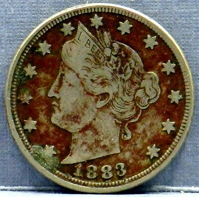 Coin 1883 P Liberty Head Victory Nickel Copper Nickel Without Cents Better Date