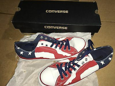 Converse Chuck Taylor All Star OX 148835F Unisex USA Flag Lifestyle Shoes Men 10