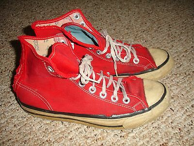 RARE! Vintage Red Canvas Bata Super Bullets High Top Basketball Sneakers Shoes S
