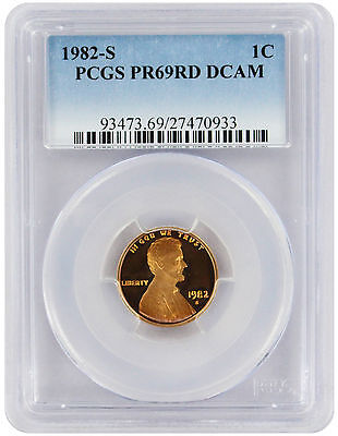 1982-S Lincoln Cent PR69RD DCAM PCGS Proof 69 Red Deep Cameo