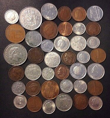 Old Netherlands Coin Lot - 1905-PreEuro - 40 Great Coins - Lot M23