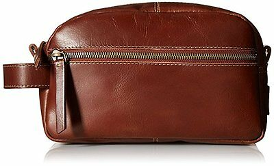 Timberland Dopp Kit Nevada Father's Day Leather Men's Toiletry Bag Travel Cognac