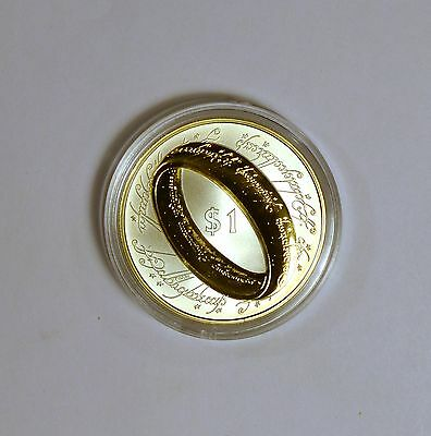 2003 Lord of the Rings silver $1 proof in original case and COA & shipping box