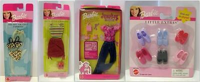 Lot of 4 Barbie Fashions/Jumpkey Fashion/Go In Style/Dreamy Touches/Shoes/NIP