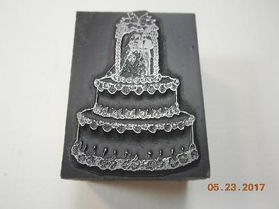 Printing Letterpress Printers Block, Decorative Wedding Cake, Printers Cut