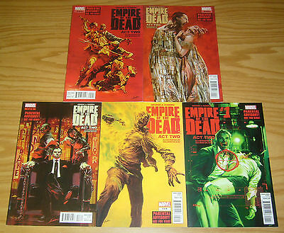 George A. Romero's Empire of the Dead: Act 2 #1-5 VF/NM complete series 2 3 4