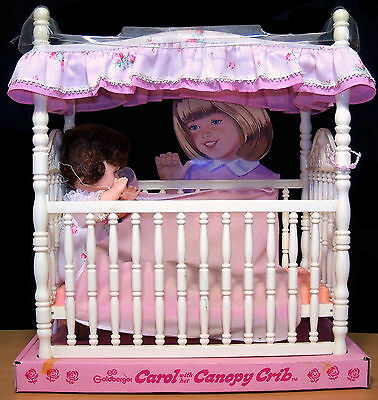Rare Vintage Goldberger Carol with Her Canopy Crib Doll Store Display