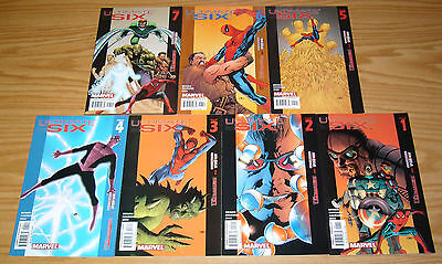 Ultimate Six #1-7 VF/NM complete series - spider-man's sinister six - bendis set