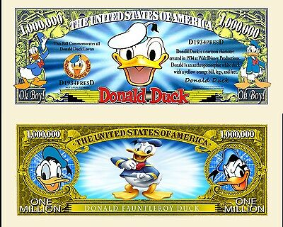 Donald Duck  Novelty Bill with Semi Rigid Protector and Free shipping