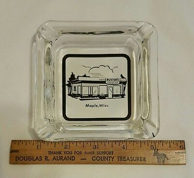Vintage Buster's Maple, Wisconsin Advertising Ashtray