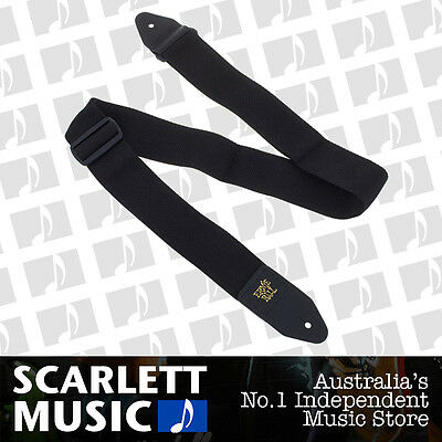Ernie Ball 4037 Polypro Guitar Strap Super Long Black Adjustable