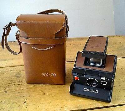 Vintage Polaroid SX-70 Model 3 instant film camera with case