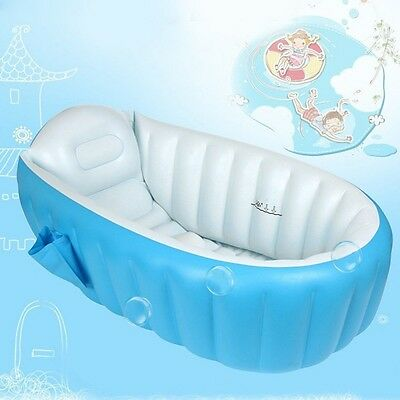 Inflatable Baby Bath Tub Portable Swimming Pool Kid Infant Toddler Shower Basin