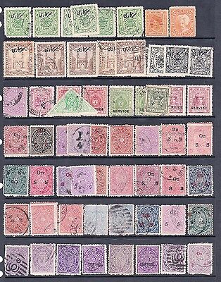 Clearout Selection of India Indian States Stamps Used Travancore Anchal etc